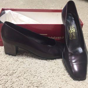 Salvadore Ferragamo Burgundy Wine heels
